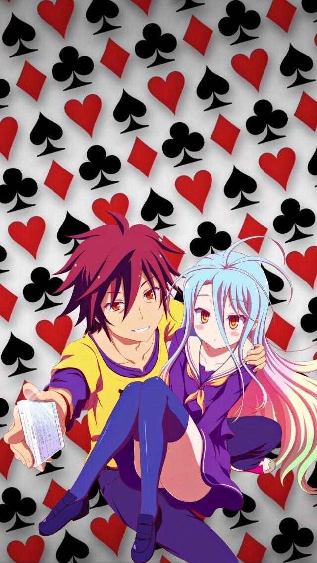 Nogamenolife Sora Shiro Shiroandsora Gamers Game Cards Anime Animewallpaper Wallpaper Background Iphonewallpaper No Game No Life Gamers Anime Anime Iphone gamers anime wallpaper