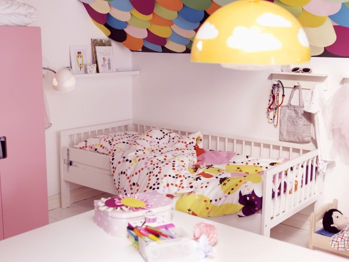 Ikea Aspelund King Size Bed ~ Colour, Ikea Ideas, Decor Ideas, Kid Bedrooms, Kid Rooms, Ceilings