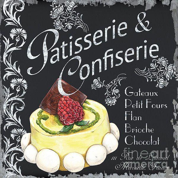 Patisserie And Confiserie Print By Debbie Dewitt