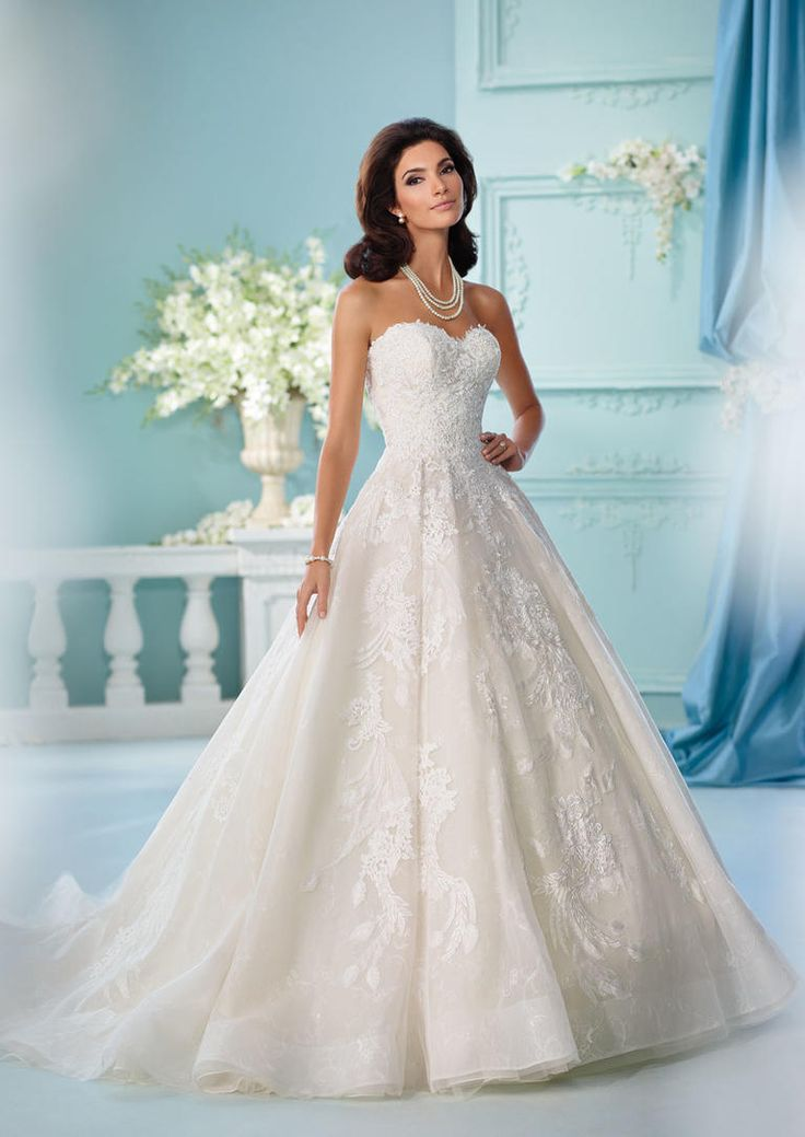 David tutera 39 s spring 2017 wedding dresses are straight for Fairytale ball gown wedding dresses