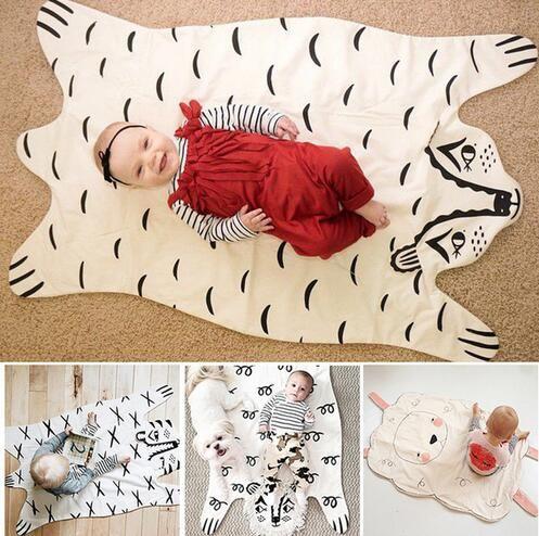 패션 새로운 아기 담요 게임 매트, 곰 담요 아기 호랑이 담요 동물 카펫, 따뜻한 곰 매트 가을 겨울