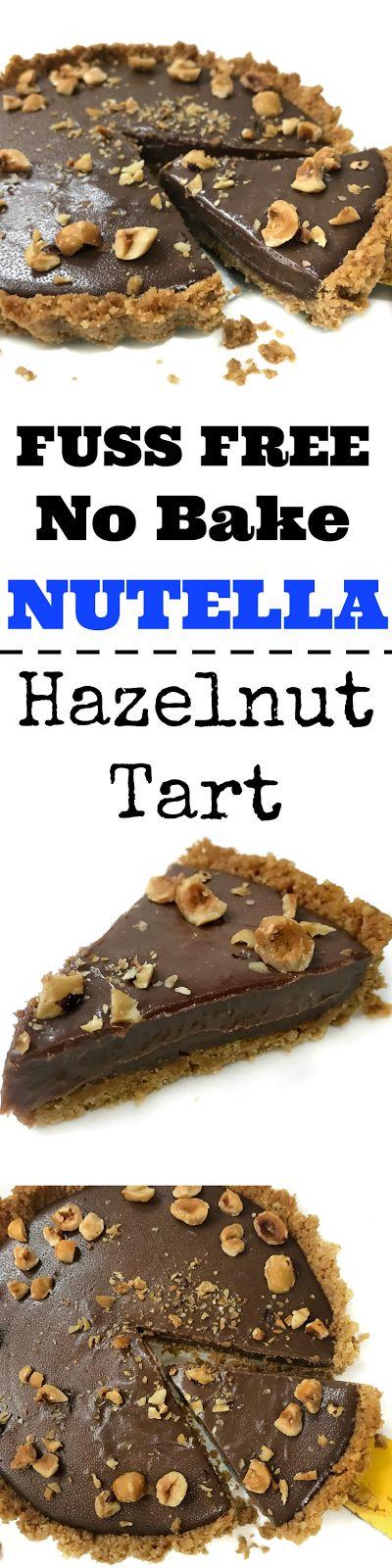 Super yummy fuss free no bake Nutella Hazelnut Tart! Great for parties, potluck and picnics
