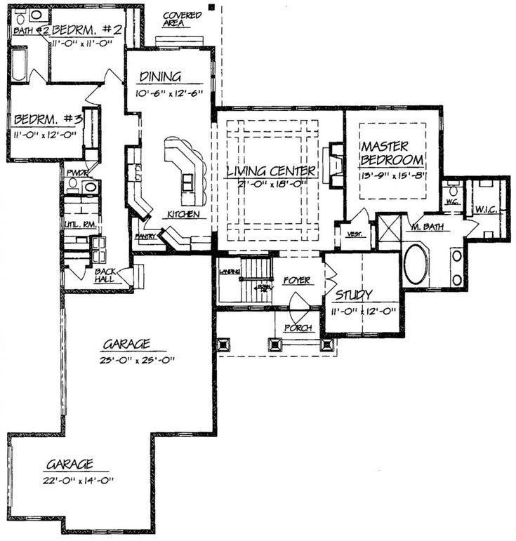 Ranch Style Open Floor Plans With Basement Room
