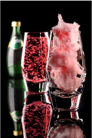 For a show-stopping beverage, try this: Add cotton candy in a glass and then pour over Perrier and champagne