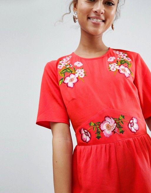 22ca9afbb5330 Embroidered Tea Jumpsuit | Trend SS19: Trim, Embellishment, Details ...
