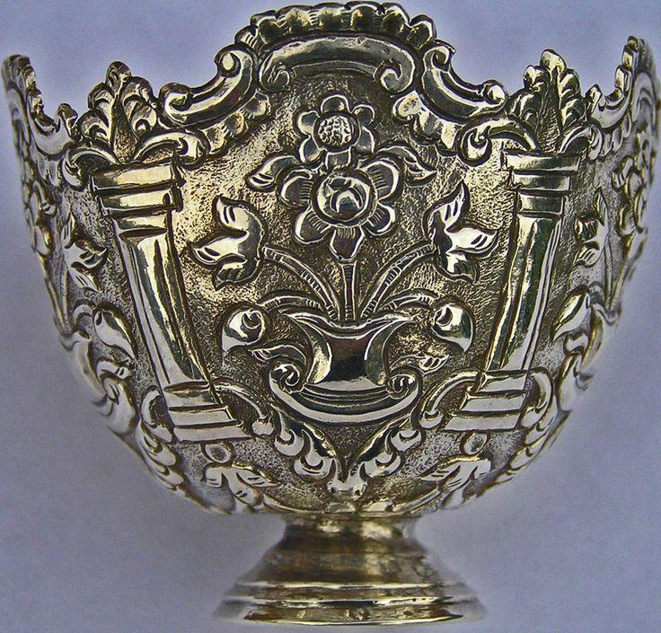 Antique Ottoman Turkish Islamic Solid Silver Zarf c1890 ; Abdul Hamid II
