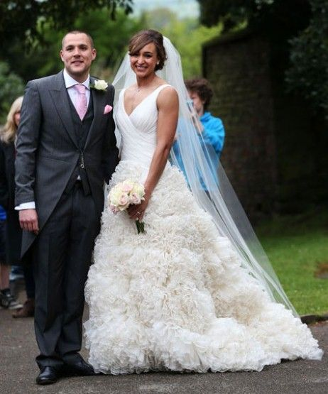 Jessica Ennis with her new husband Andy Hill