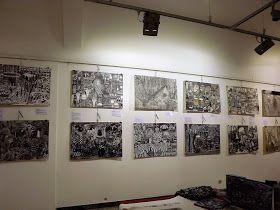 Paseando por Arezzo tuve la oportunidad de entrar en una sala de exposiciones en donde se exhibian los dibujos de Luigi y Kate Agnelli.   h...