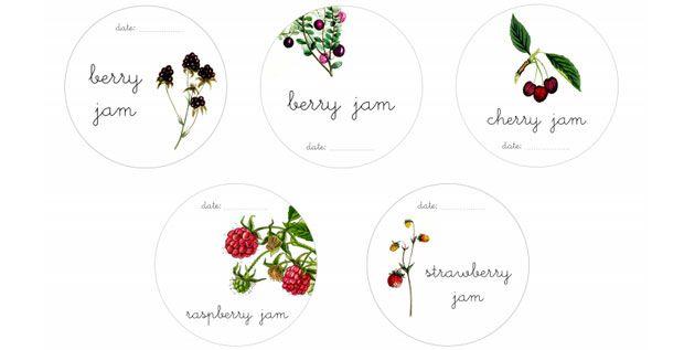 Etiquetas para mermeladas