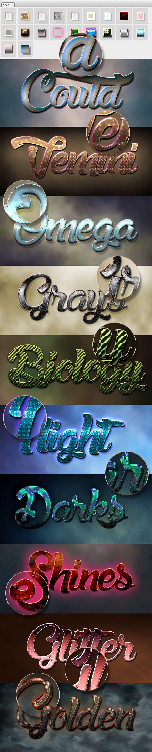 10 #3D #Text Styles D_58 - Styles #Photoshop