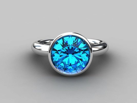 This beautiful Ocean drop- Cocktail ring made from 925 Sterling silver has a beautiful Topaz in simple, yet elegant setting. This Topaz has a diameter of 10.00mm