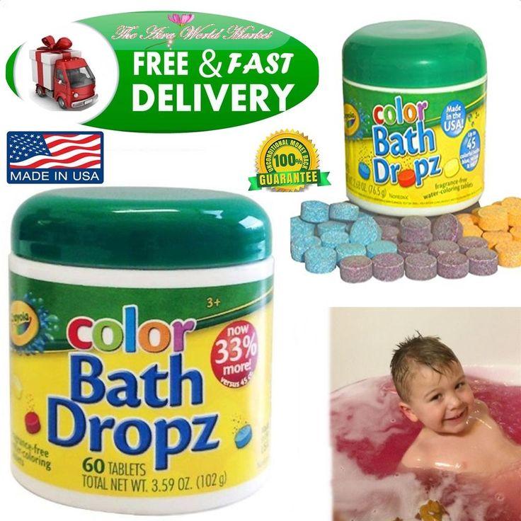 Bathtub Color Dropz Play Baby Easy Bath Time Fun Visions Crayola Toy Tub 60 Mix #Crayola