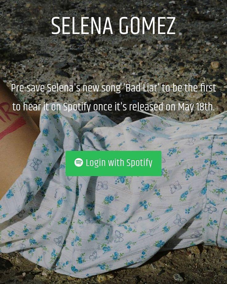#BADLIAR Pre-save on Spotify now: [Link Bio]  Pre-venta de #BADLIAR en Spotify ahora: [Enlace en nuestra Biografía]  #SelenaGomez #Selena #Selenator #Selenators #Fans