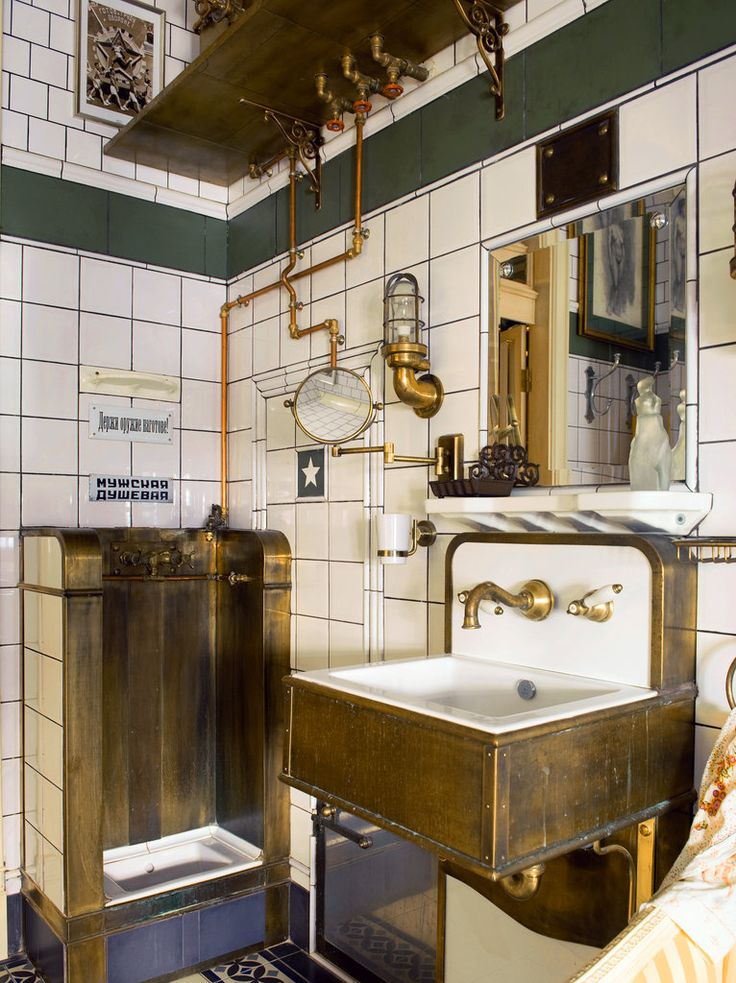 so when you have your own house you might have an art deco bathroom or you could have a steam punk bathroom or both