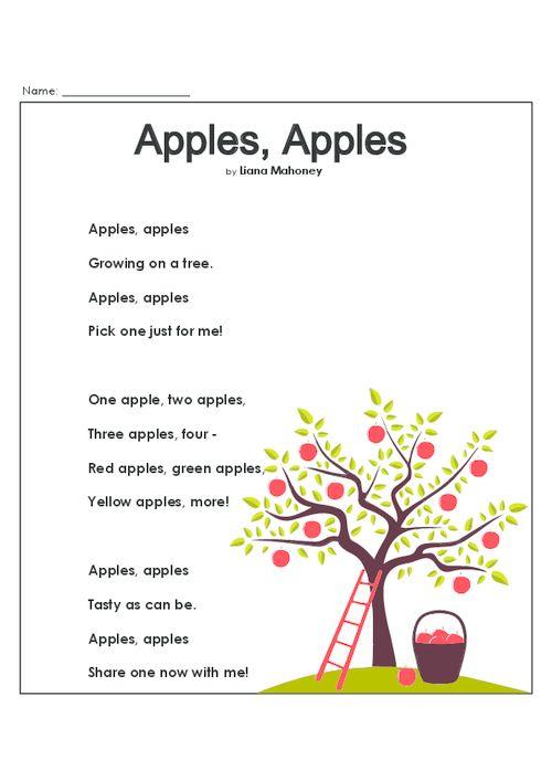 Poem comprehension worksheets for grade 5