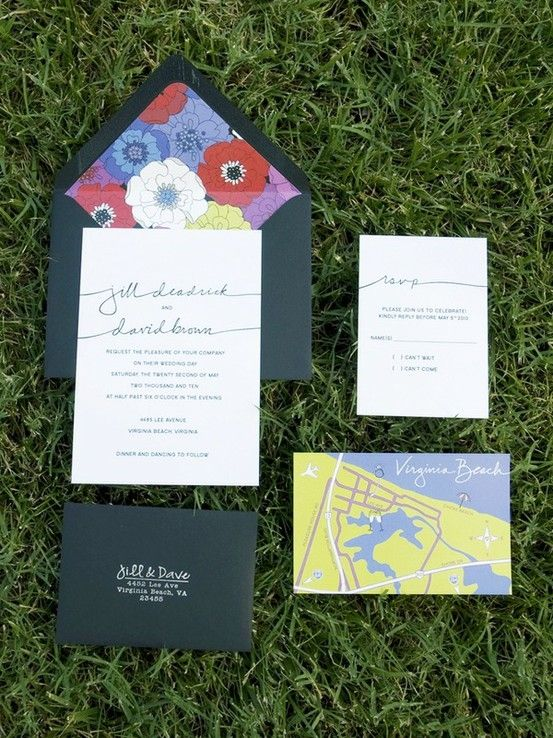 unique invitation suite by nicole