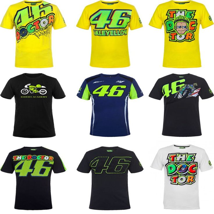 Promo offer US $13.82  2017 Valentino Rossi VR46 Moto GP Monza Rally Replica T-shirt 46 the Doctor for Yamaha M1 T-shirt