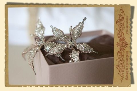Stacey Hannan Designs - Lily flower hair pins, Email Stacey at info@staceyhannandesigns.com (http://www.staceyhannandesigns.com/lily-flower-hair-pins/)