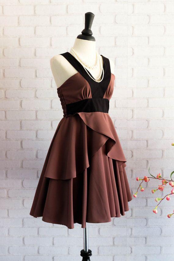 Vintage Brown Prom Dresses 101