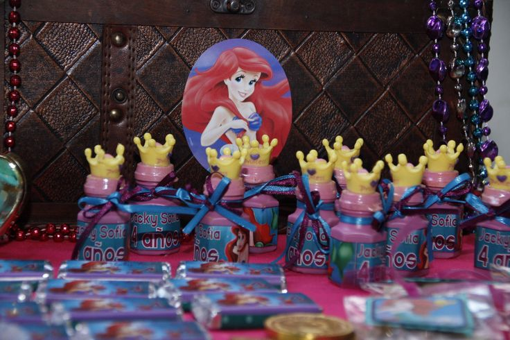 Girly gifts Ariel little mermaid themed bday party