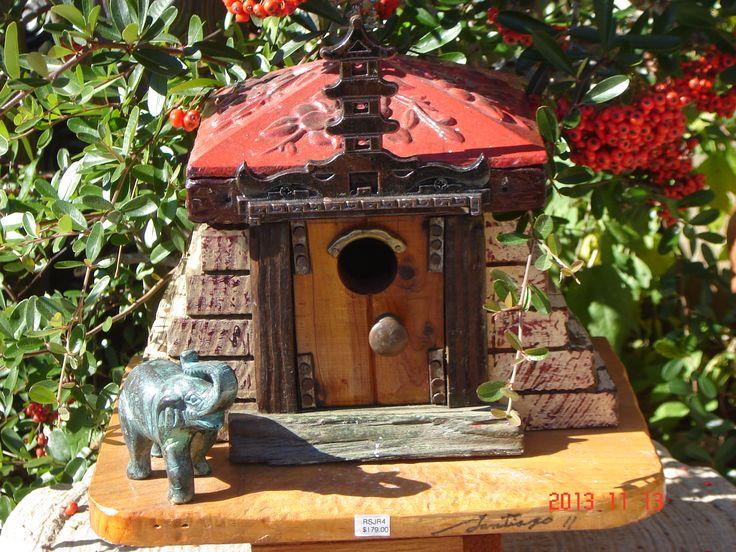 Asian Birdhouse | Birdhouse, One of a kind Asian Theme :: BIRD HOUSES :: BIRDS :: GARDEN ...