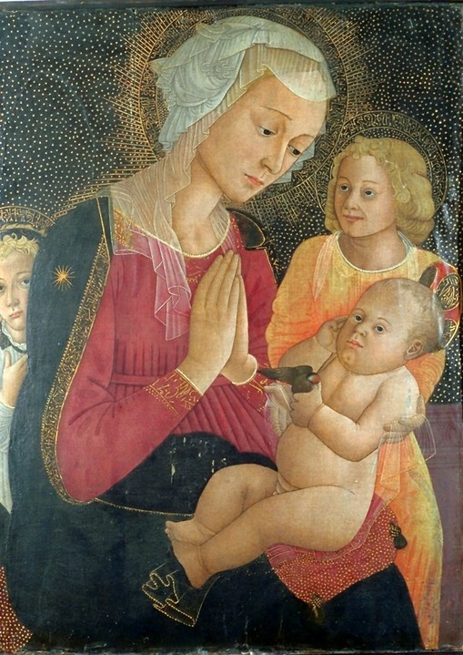 Virgin and Child with two angels by Alesso Baldovinetti