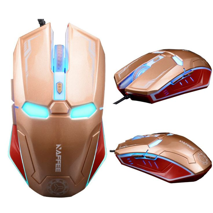 Wired 8D IRON MAN G5S 2400DPI Ergonomic Usb Optical Game Gaming Mouse Gamer 6 Buttons For PC Laptop Computer Mause New Arrival