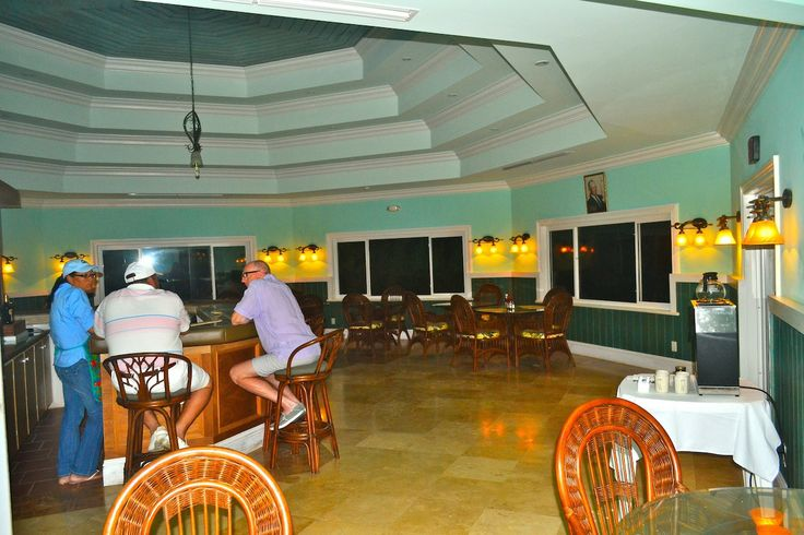 The bar and dining room