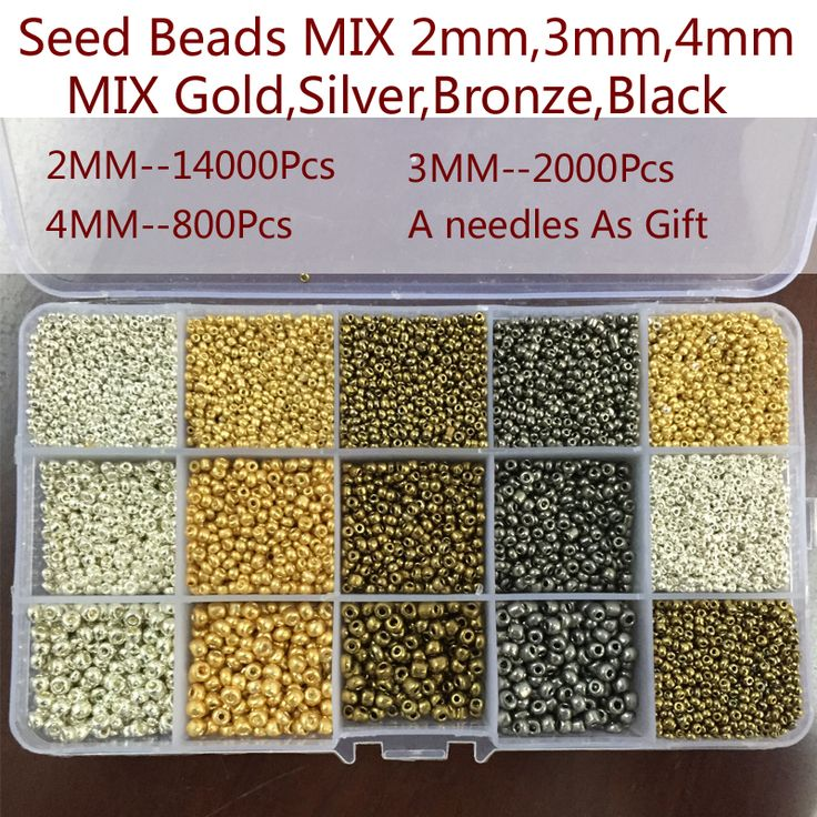 Mix 4 Color 3 Size Spacer Glass beads,Round Shape Soild Czech Seed Beads For Jewelry making DIY can mix color #Affiliate