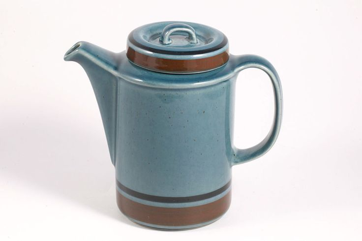 MERI Blue by Arabia of Finland MCM Teapot Coffee Pot w/ Lid Ulla Procope 5 Cup #Arabia