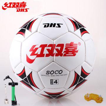 Гладкая кожа ручной работы футбол Подлинная DHS 3 детский развлекательный на 4-м 5-й стандарт обучения игры в мяч
