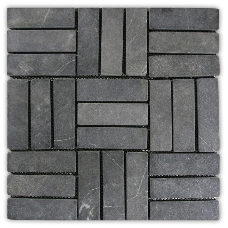 Show grey weave stone mosaic tile