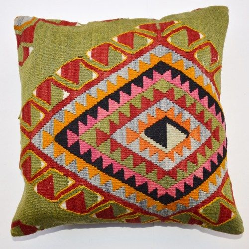 Kilim Pillow handmade from Turkish Anatolian Kilims