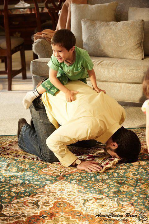 Every single time I pray, my nephews and nieces would climb on my back.