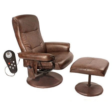 Found it at Wayfair - Relaxzen Leisure Reclining Heated Massage Chair with Ottoman http://www.wayfair.com/daily-sales/p/Relaxed-Rustic-Living-Room-Relaxzen-Leisure-Reclining-Heated-Massage-Chair-with-Ottoman~CFP1048~E18114.html?refid=SBP.rBAZEVRGXKBikW81ZSkUApddcwVqYk8ck8tI8c1QINI