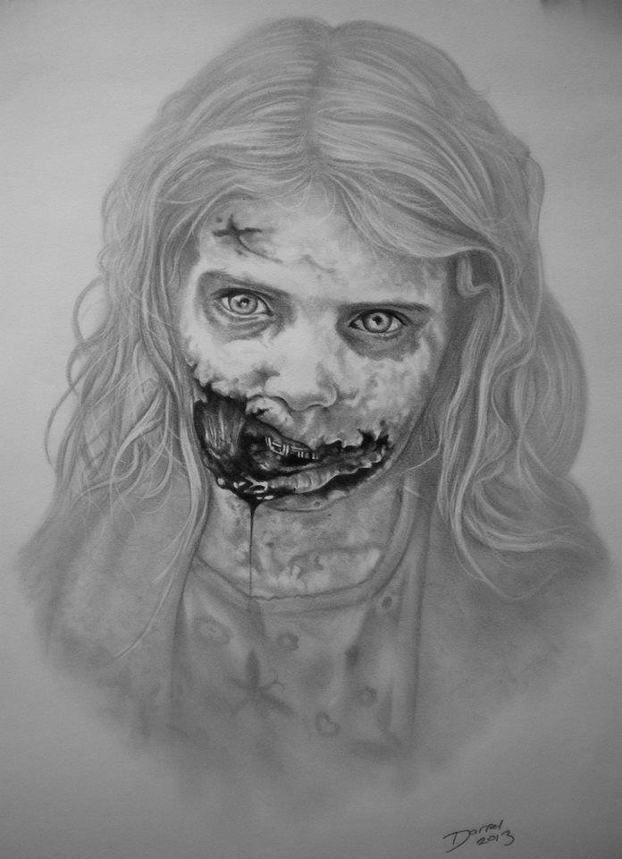 Zombie Girl, The Walking Dead, by Darrel Bevan