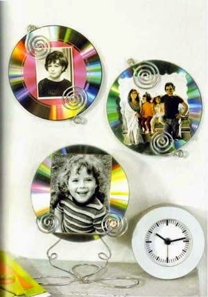 17 mejores ideas sobre portaretratos con cd en pinterest for Cd reciclados decoracion