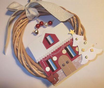 cartoncino mio: Ghirlande natalizie in vimini - parte 2