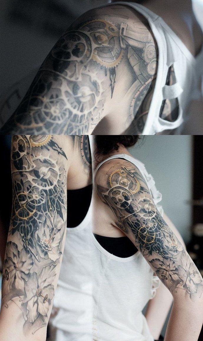 Tattoo gear tattoo sleeve mechanic tattoo mechanical tattoo gears - Steam Punk Tattoo Steampunk Tatoo By Anatckiy Design Of Tattoos Design Of Tattoos