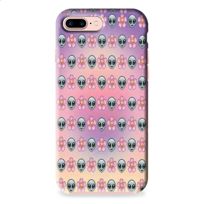 Alien Emoji Flower iPhone 7 3D Case Dewantary