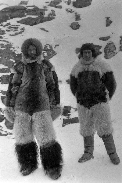 Peter Freuchen with fellow explorer Knud Rasmussen