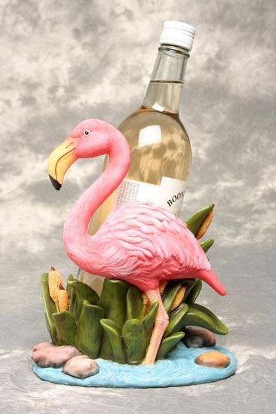Tropical Pink Flamingo Wine Bottle Holder Kitchen Bar Decor Resin New #Winebottleholder
