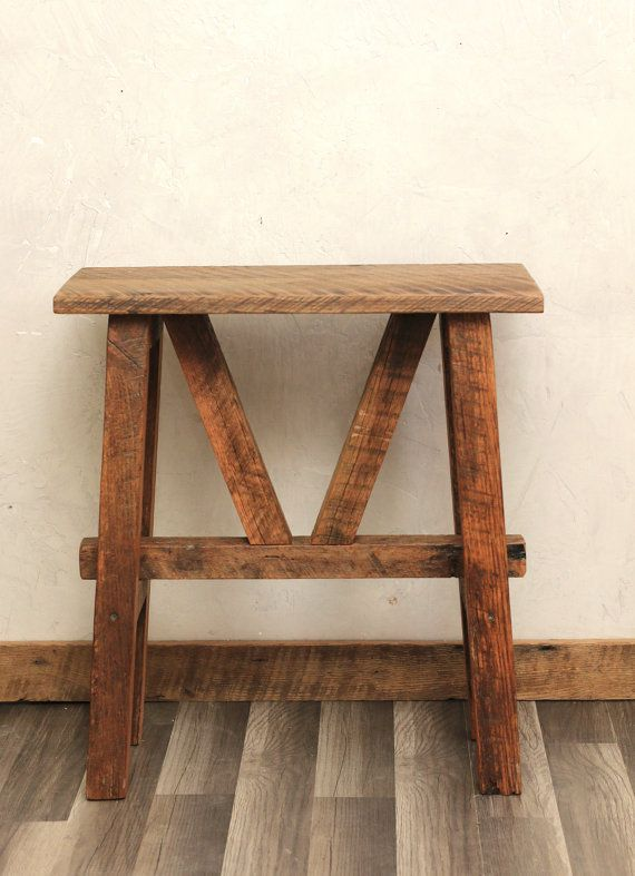 Reclaimed Wood Side Table - Accent Table - End Table - Barn Wood - 37 Best Primitive Tables Images On Pinterest