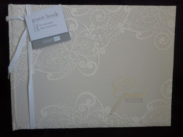 Ivory Lace Guest Book By Pepper Pot
