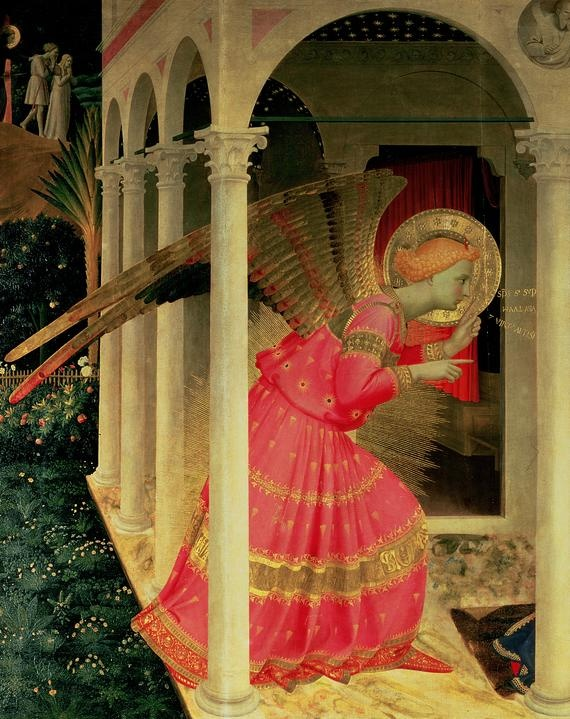 Detail from The Annunciation showing the Angel Gabriel - Fra Angelico