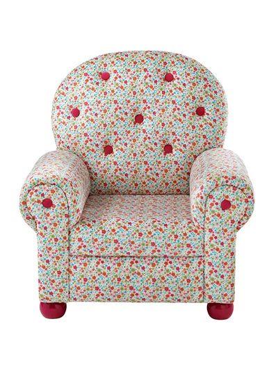 fauteuil forme club imprim fille rose imprime vertbaudet enfant chambre iseult fauteuil. Black Bedroom Furniture Sets. Home Design Ideas