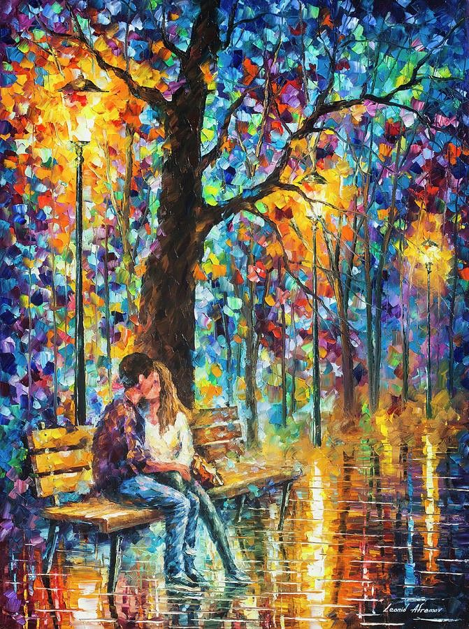 Recollection Of The Past By Leonid Afremov Romantic Wall Art