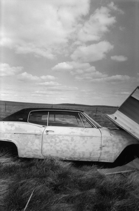 Raymond Depardon. U.S.A. South Dakota. Bad lands. 1999