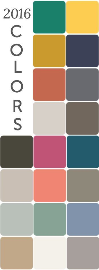 Check out these 2016 contrasting color trends ~ inspiration for home decor