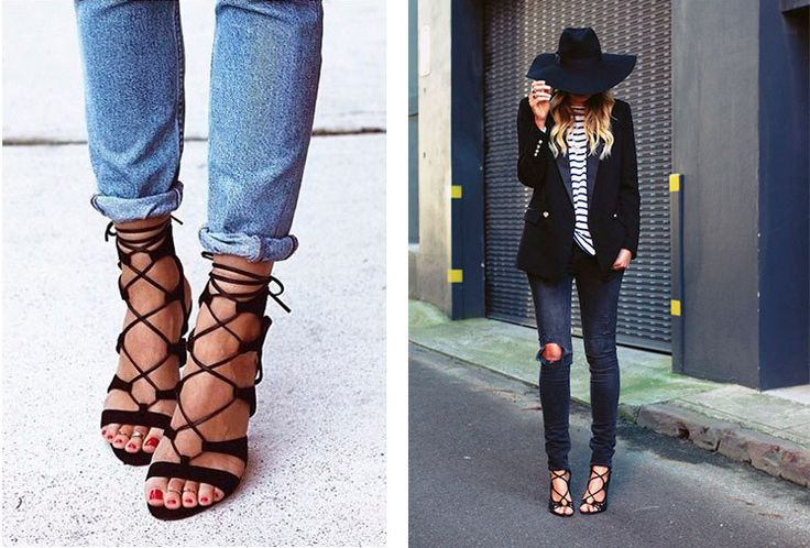Esta na moda sandálias trançadas